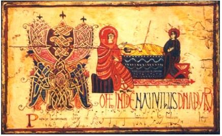 Natividad. Antifonario de León. Siglo X
