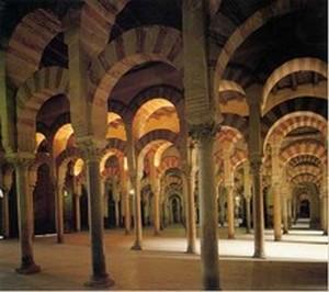 Mezquita de Córdoba. Zona construida a finales del S. VIII