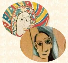 Miniatura Mozórabe: Curiosas semejanzas entre una 'Señorita de Avignon' y San Lucas de la Biblia Sacra de León