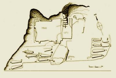 Plano de la iglesia y su entorno.