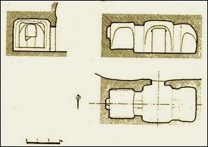 San Miguel de Presillas. Esquema de su estructura según Monreal Jiménez L.A.
