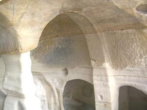 San Miguel de Presillas. Vista de los ábsides desde la tribuna.