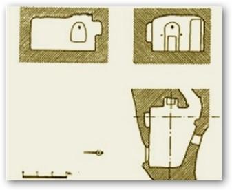 Villaescusa de Ebro. Planos de la iglesia rupestre.