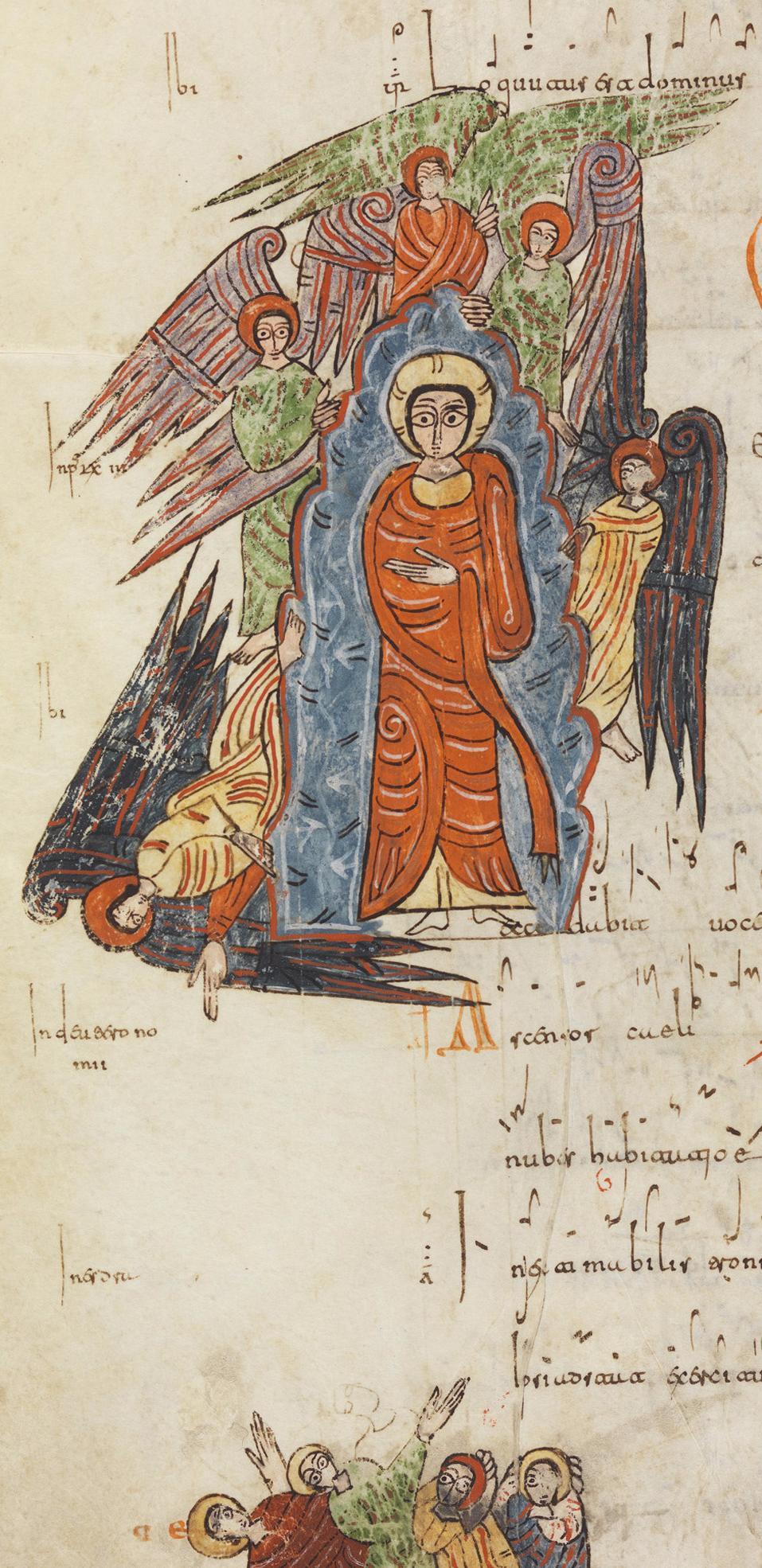 Folio 198r: Ascensión del Señor