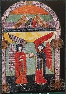 Los ángeles con el evangelio de Juan