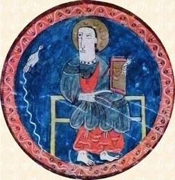 El trono con Cristo, detalle