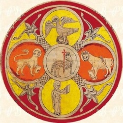 Visión del Cordero y los Cuatro Vivientes
