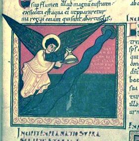 El sexto ángel vacía su copa en el río Eúfrates
