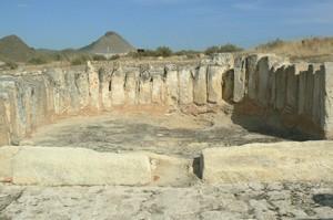 Basílica de Eio: Vista actual del ábside
