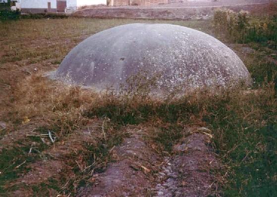 Baptisterio de Gabia Grande: Vista exterior de la cúpula reconstruida