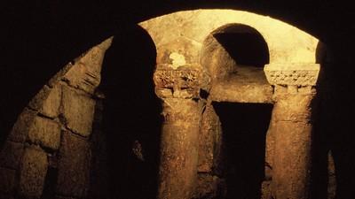 Cripta de San Antolín: Vista de la cabecera desde la nave