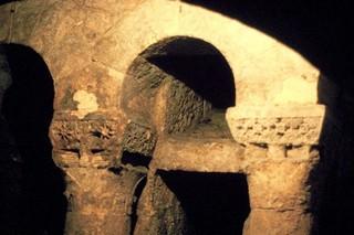 Cripta de San Antolín: Detalle de la cabecera