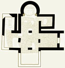 Iglesia de Valdecebadar: Plano según Thilo Ulbert
