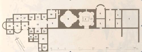 Mausoleo de Centcelles. Sección de la sala central, según H. Schlunk y Th. Hauschild