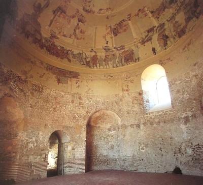 Mausoleo de Centcelles. Vista parcial de su interior. Procedente de Stampa: Universidad Complutense de Madrid
