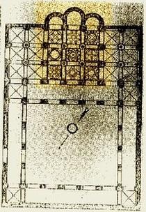 Cristo de la Luz. Reconstrucción de la planta original según Amador de los Ríos