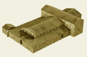 Recópolis: Basílica, reconstrucción estimativa