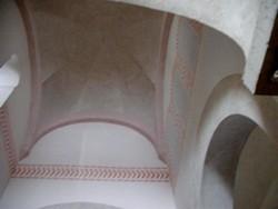 San Cebrián de Mazote: Detalle de la bóveda reconstruida del cimborrio