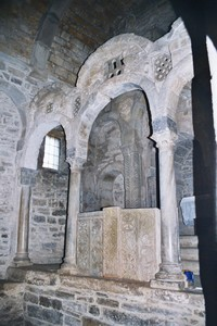 Santa Cristina de Lena: Detalle del iconostasis