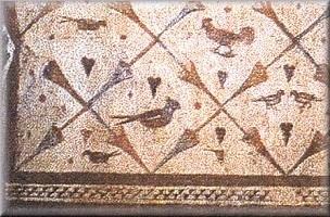 Santa Eulalia de Bóveda: Detalle de las pinturas que decoran su interior