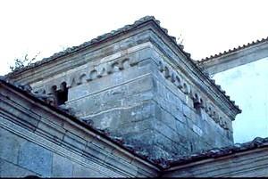 San Fructuoso de Montelios: Detalle de la torre de crucero