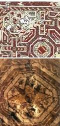 Detalle de algunos mosaicos de la villa de Veranes