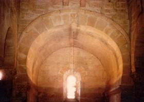 San juan de Baños: Detalle de la bóveda del ábaside