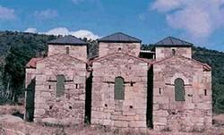 Santa Lucía del Trampal: Vista de la cabecera tripartita