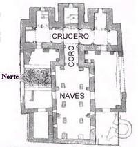Santa Lucía del Trampal: planta de la basílica según caballero y otros