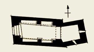 Santa Margarida de Cairat: planta según Eduardo Junyent