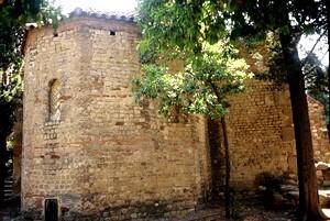 San Miguel de Tarrasa. Vista exterior de la cabecera