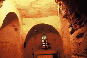 San Miguel de Tarrasa. Cabecera de la cripta