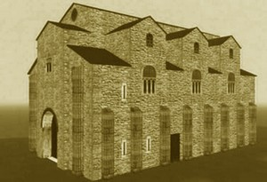 San Miguel de Lillo: Reconstrucción de su aspecto original según Vidal de la Madrid