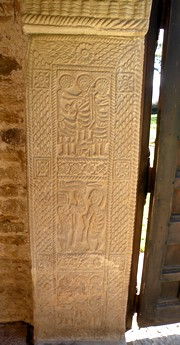 Detail of the decoration of a door's jamb