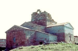 Santa María de Melque: Vista exterior de la cabecera desde el nordeste antes de las últimas obras de restauración