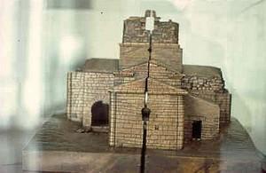 Maqueta de Santa María de Melque existente en el Museo Arqueológico Nacional