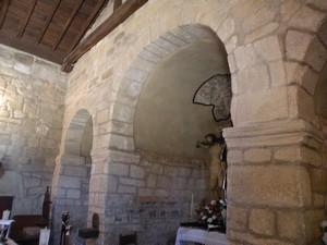 Santa María de Mixos: Vista parcial de la cabecera