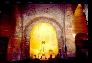 Santa María de Tarrasa. Arco de acceso al ábside