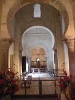 Santiago de Peñalba: Vista general de su interior desde el ábside