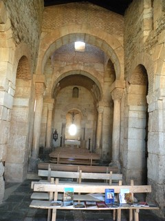 San Pedro de la Nave: Vista general de su interior