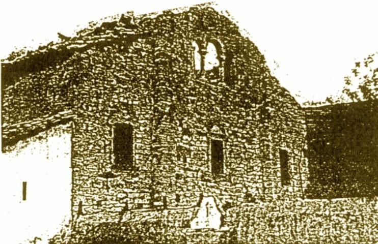 San Pedro de Nora después del incendio en 1936