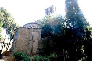 San Pedro de Tarrasa: Vista exterior de la cabecera.