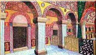San Salvador de Valdediós: Reconstrucción de parte de las naves y de la cabecera. Por gentileza de los monjes cistercienses de Valdediós