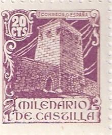 Torre de Doña Urraca en el sello conmemorativo del milenario de Castilla.