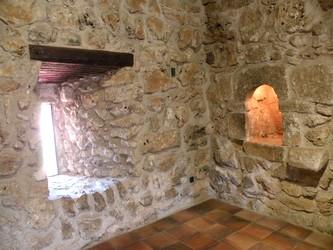 Detalle de la zona en que estaba el oratorio y su pequeño altar