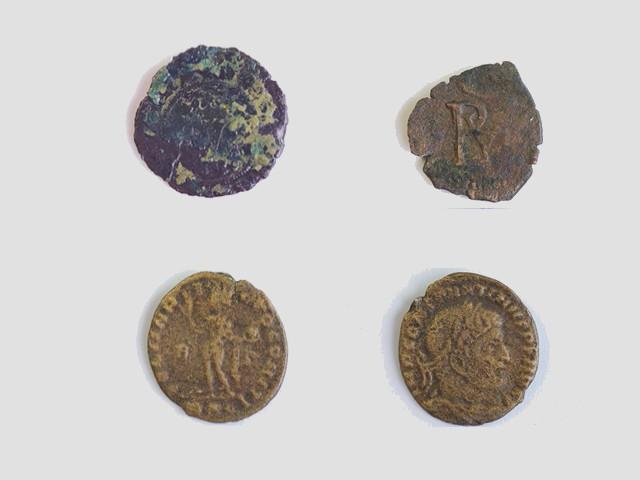 Virgen del Cerro: Monedas romanas