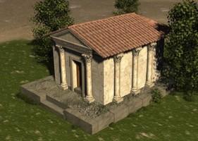 Carranque: Reconstrucción del Nínfeo según Balawat.com