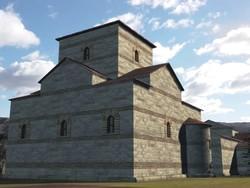 Reconstrucción de la Iglesia vista desde el NO según Balawat.com