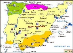 Hispania al comienzo del reinado de Leovigildo