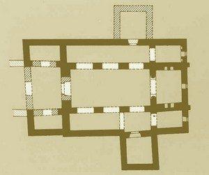 San Adriano de Tuñón: Planta según Manzanares
